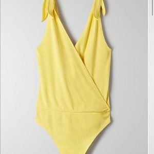 Wilfred neva body suit by Aritzia in Royal Yellow